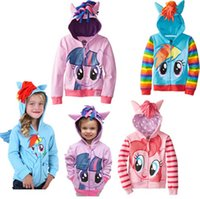 Wholesale my little pony clothes my little pony hoodies children kids cartoon hoodies children s clothing zipper outerwear hoodies