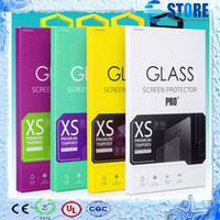 Wholesale Customize acceptable Personality Design Tempered Glass Screen Protector Retail Package Box for Cell phone Multi Colors DHL free wu