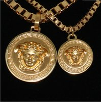 South American american gold medals - 2015 Hot Sale Necklace Jewelry Alloy Gold medal Portrait Plating Pendants Necklaces HIPHOP Jewelry Men and Women Tide Pendant Necklaces