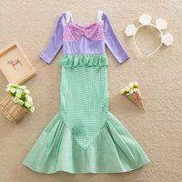 Wholesale Princess Dresses Korean Girl Dress Fashion Christening Dresses Kid Sequin Dress Party Dress Children Clothes Kids Clothing Ciao C22398