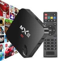 Wholesale 10pcs MXIII MX III M82 Amlogic S802 Quad Core Cortex A9 Android WiFi TV Box GB GB GB GB Support K HDMI Wifi XBMC Ethernet IR Remote