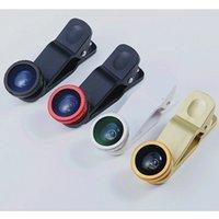 Wholesale 3 in Universal Clip Lens Wide Lens Macro Lens Fish Eye Lens For phones Digital Camera Tablet PC F008