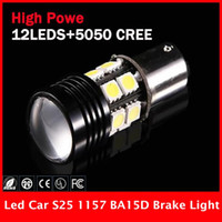 automotive led replacement lamps - 2 X P21 W BAY15D Led Bulb V Automotive Car Lamp Cree Optical Projector Emitter SMD Back up Reserve Light Replacement