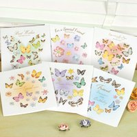 beautiful friendship cards - 2015 NEW sets of beautiful laser cut d butterflies cards for birthday friendship creative square D greeting cards