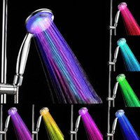 bath shower fittings - New Handheld Color LED Romantic Light Water Bath Home Bathroom Shower Head Glow Fits All Standard Connectors Christams
