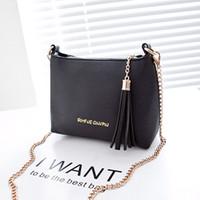 Wholesale Messenger bags women tassel chain messenger bag day clutch small cross body bag women handbag