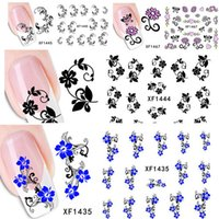 adhesive transfer sheets - 1 sheets Beauty Flower Design Nail Art Water Transfer Stickers Decals DIY Beauty Adhesive Nails Decoration Tools