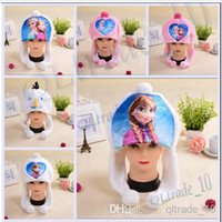 Wholesale 19 Styles High quality New frozen hat Olaf Snowman Hat Autumn and winter hat Inspired by Olaf the Snowman Plush Hat