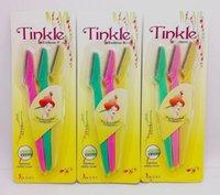 tinkle razor - 300pcs set Women Pro Tinkle Facial Eyebrow Trimmer Razor Shaver Sharper Makeup Kit Stainless Steel Cut Blade