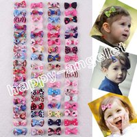 baby bobby - 12pcs cm mini Hair Accessories Baby Girl Frozen Sweet Minions hair bows clips Elsa Anna Sofia princess Minnie hairpin bobby Barrette HD3289