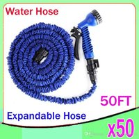 pocket hose - 50 FT Expandable Flexible Garden Water Pocket Hose With Spray Good Nozzle Head opp bag by ZY SG