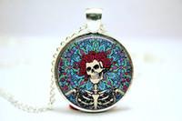 Wholesale 10pcs The Grateful Dead Necklace Glass Photo Cabochon Necklace