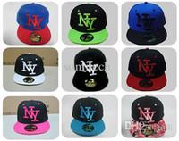 Cheap Free shipping 2015 NY Kids Snapback Cartoon Embroidery Children Cotton Baseball Cap Baby Boys Girl Snapback Caps Hip Hop Hats