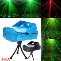 Wholesale Mini LED mW Green Red Laser Lighting Stage Lighting Auto Strobe Voice activated Speed Adjustment LED Stage Lights