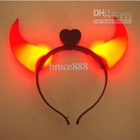 Wholesale LED Luminous Horns Headband Lights Christmas decorations Halloween Lights