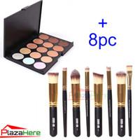 makeup kit - 15 Colors Contour Face Cream Makeup Concealer Palette Professional Professional Foundation Cosmetic Makeup Brush set Kit