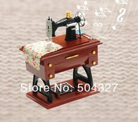 Wholesale Piece Vintage Mini Sewing Machine Music Box Sartorius Model Musical Toy