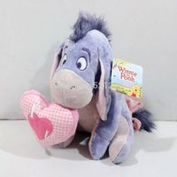 Wholesale cm Eeyore donkey plush gift doll with LOVE heart new gift for friends