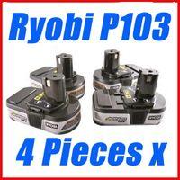 Wholesale 4 x Ryobi V Lithium Ion ONE Battery Compact ofr Ryobi P103 Free ship via ems order lt no track