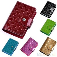 Wholesale Woman Lady Patent Leather ID Credit Card Case Holder Pocket Bag Wallet Hot Sale HH