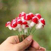 Wholesale DIY Small Mushroom Cute Pots Micro Landscape Garden Decor Nature Ornament Stakes bag