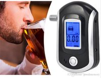 Wholesale 2015 China Professional Digital LCD Breath Alcohol Tester for Police Portable Alcohol Tester epacket shipping goodmemory
