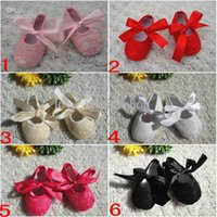 Wholesale Baby Toddler lace shoes Baby Kid Slip shoes Color Shoes girls Princess shoes PU shoes Baby Soft Sole Shoes Ballet Style slip Shoes