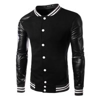 Men fashion autumn sweater - 2015 Autumn Korean new arrive Men s outwear men s jacket fashion Splice Men s sweater Baseball coat men s Hoodies black