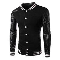 Coton ouaté korean veste de baseball Avis-2015 nouvelles arrivent outwear veste mode pour hommes manteau pull Baseball Hoodies Automne coréen MASCULINE Splice pour hommes noirs 4240