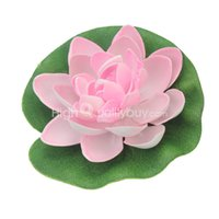 Ornamento Plantas Artificial Pink Lotus Agua Floating Flower Garden Pool Pond
