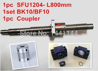 Wholesale 1pcs antibacklash ball screw L800mm C7 BK BF10 Support mm coupler