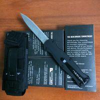 Cheap Bench made 3300 Infidel OTF silver Double Blade Double Action 3310 BK32 BM42 Scarab A162 Nylon Sheath knife knives