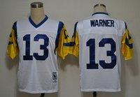throwback football jersey - Cheap Throwback Rams Jerseys Eric Dickerson Kurt Warner Marshall Faulk Blue White M N American Football Jerseys