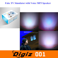 Wholesale Newest Fake TV Simulator with Voice MP3 Speaker Function Household LED Light Lamp Changing Lighting Dummy Burglar Deterrent