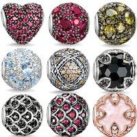 Wholesale new fashion Karma natural stone beads Tibetan silver crystal beads DIY cabochon Karma Beads for charm bracelets women