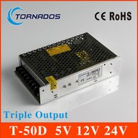 Wholesale 50W Triple Output dc power supply V A V A V A ac to dc power supply T D