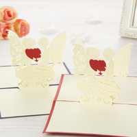 Wholesale quot Give My Saint Love To You quot Handmade Creative D Pop UP Gift Greeting Birthday Cards With Angel Design set of