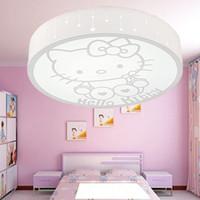 Wholesale Jane Imagey circular acrylic cartoon children s room led ceiling lamps Ceiling lights KETTY bedroom led lamp KT Cat cat Lighting