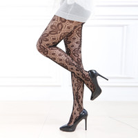 Wholesale Sexy Panties Porn - Wholesale-Hot Sexy Collant Noir Femme Leaf Pattern Stockings Porn Lingerie Sheer Pantyhose Sexy Tights Womens Exotic Stockings Panties