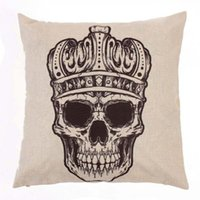 Cheap New Creative Vintage Retro Skull Pattern Pillow Case Cover Cushion Cotton Linen Sofa Bed Home order<$18no track