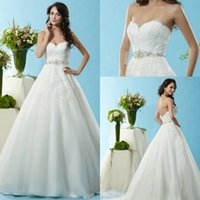 Wholesale Sexy Wedding Dresses Cheap Vintage Bridal Party Gowns With Lace Crystals Formal White Ball Dress Plus Size Long Chapel Train Backless