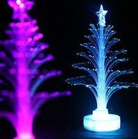 Wholesale Christmas Lights Christmas Decorations Color Flash Led Lights Fiber Optical Light Emitting Flowers Tree Decor