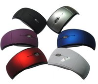 Wholesale 2 GHZ Wireles Mouse Ergonomic Folding Arc Mouse Wireless Folding Mouse