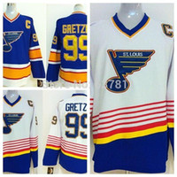 baby hockey jersey - St Louis Blues Throwback Hockey Jerseys Wayne Gretzky Jersey Baby Blue Vintage CCM Wayne Gretzky Jerseys Stitched C Patch