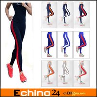 Wholesale 15 Colors Women s High Waist Tights YOGA Sport Running Pants Fitness Leggings
