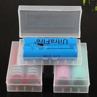 Wholesale Portable transparent box mod battery storage box case plastic battery safety box for e cigarette mechanical mod battery