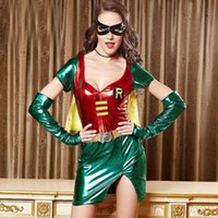 comic books - Sexy Racy lingerie Game uniforms Halloween Costumes Comic book hero Batman Robin Hood role playing Superman costume Halloween party