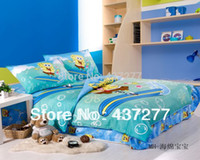 Wholesale Coverlet Kids - Kids happy cartoon bubbles print bedding set 100% cotton duvet cover sheet pillow shams coverlets comforter sets 4 5pc twin full