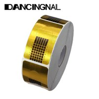Wholesale 500pcs each Roll supplies tools Golden Nail Art Tip Extension Forms Guider Tool for Acrylic UV Gel
