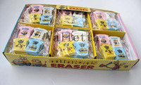 Wholesale Box Children study accessories Correction Supplies Rubber Minions yellow T shirt style eraser colors